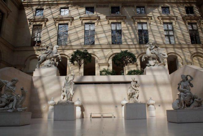 Atrium in the Louvre Museum in Paris France