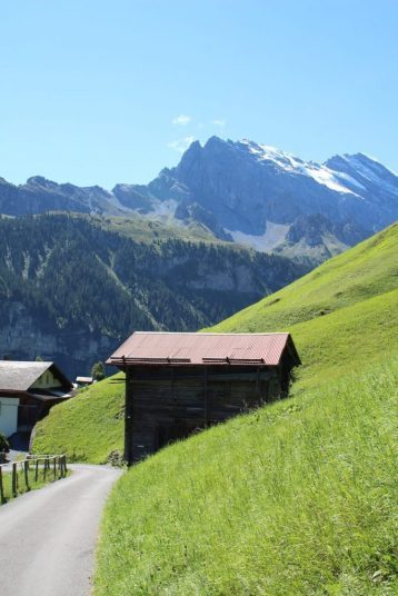 Walking to Gimmelwald Switzerland from Murren