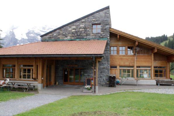 Eating lunch in Winteregg Switzerland