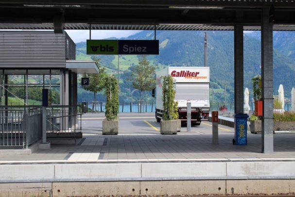 Spiez train station in Switzerland