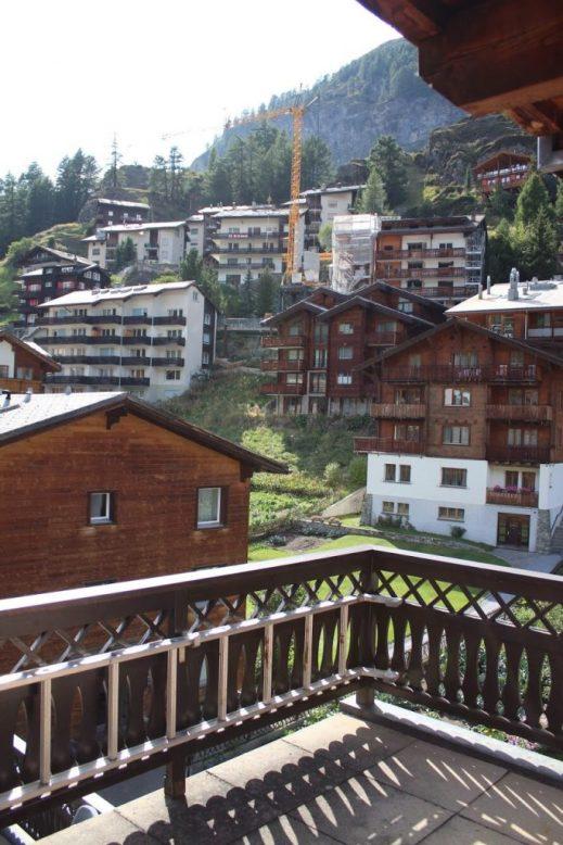 Our terrace in Hotel Alphubel in Zermatt Switzerland