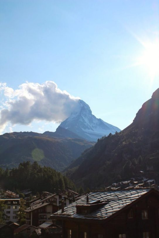 View of the Matterhorn on the way up to the Gornergrat