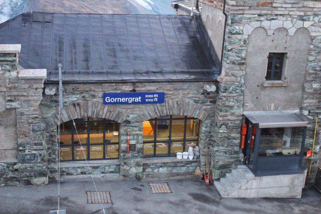 Gornergrat train station in Zermatt Switzerland