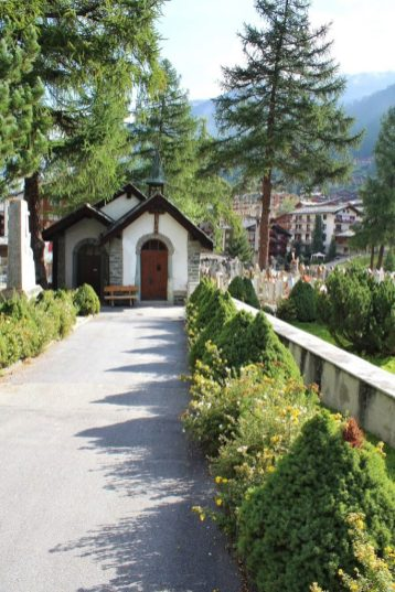 Mountaineer cemetery in Zermatt, Switzerland