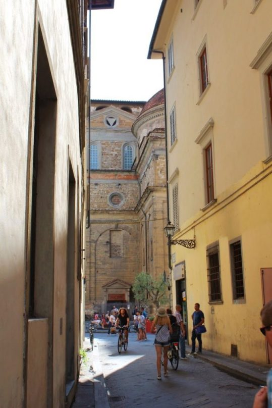 The alleyway by our Airbnb in Florence Italy