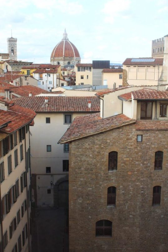 View of the Duomo from the Uffizi museum in Florence Italy