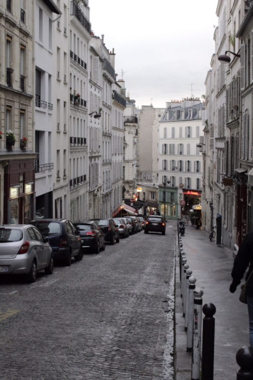 Walking to Montmartre in Paris France