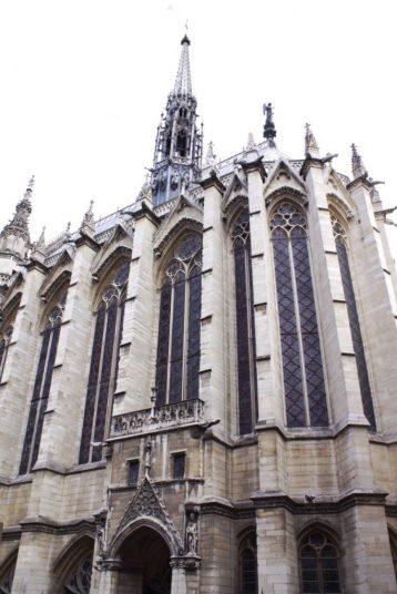 Outside of Sainte-Chapelle in Paris France