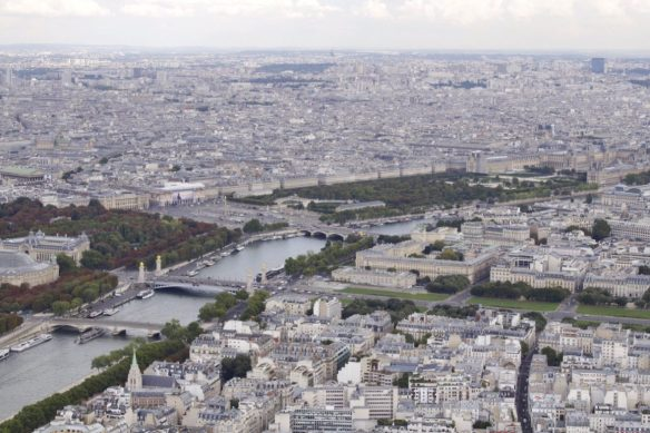 View from Eiffel Tower in Paris France