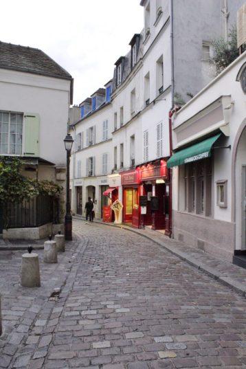 Walking around Montmartre in Paris France