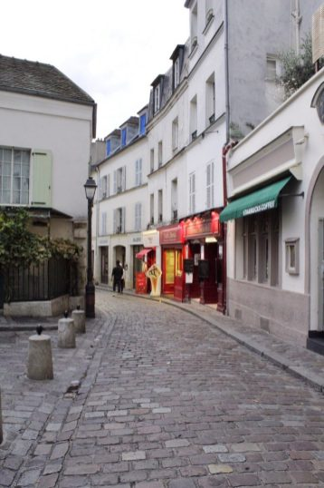 Walking around Montmartre in Paris France