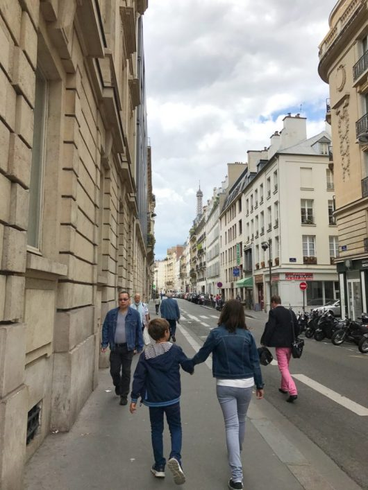 Walking to our Airbnb in Paris France