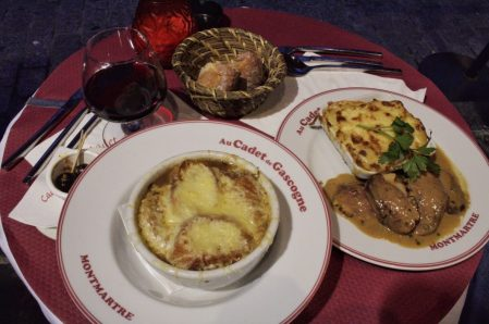 Dinner in Montmartre in Paris France