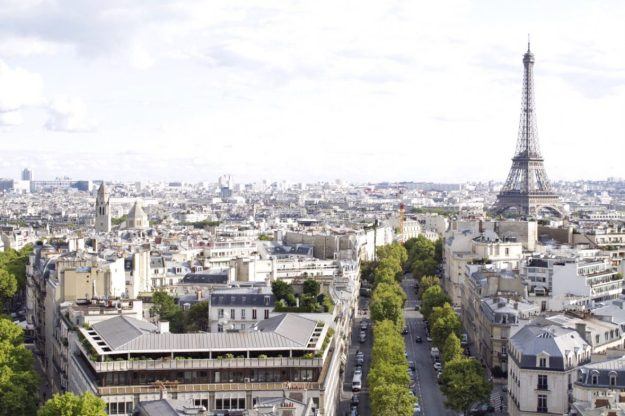 View from Arc du Triomphe in Paris France