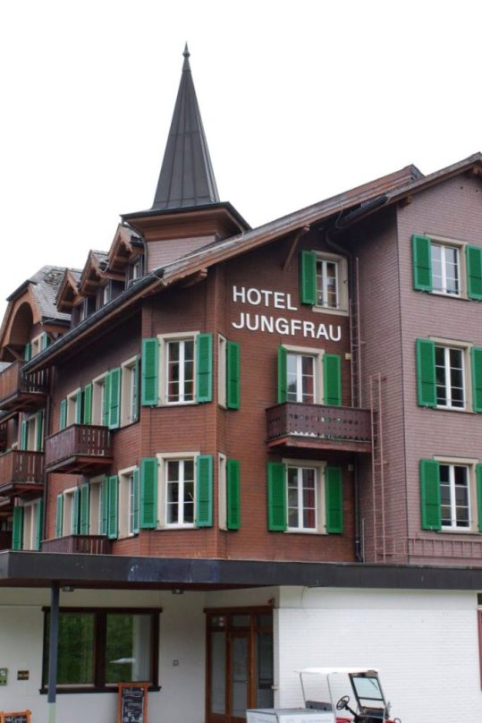 Hotel Jungfrau in Murren Switzerland