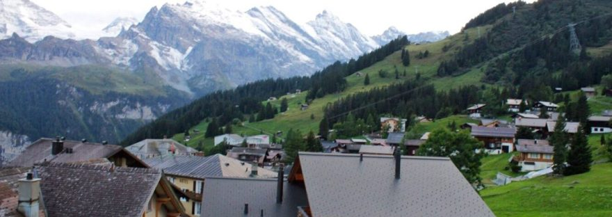 View from Hotel Jungfrau in Murren Switzerland