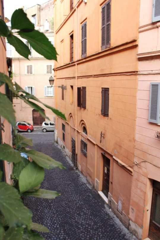 View from our Airbnb in Rome Italy