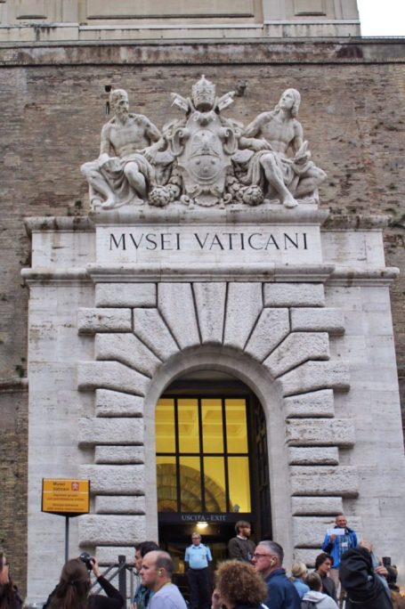 Entrance to the Vatican museum in Rome Italy