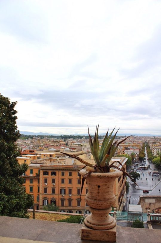 View of Rome from the window of the Vatican museum