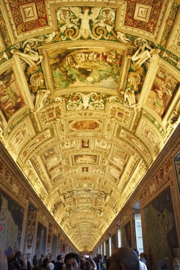 Gallery of tapestries at the Vatican Museum in Rome Italy