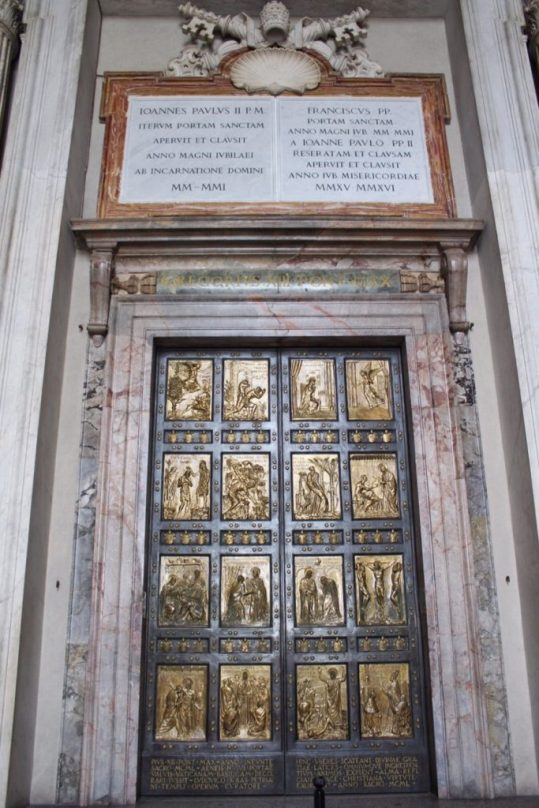 The Holy Door or 'Porta Sancta' at the Vatican in Rome Italy
