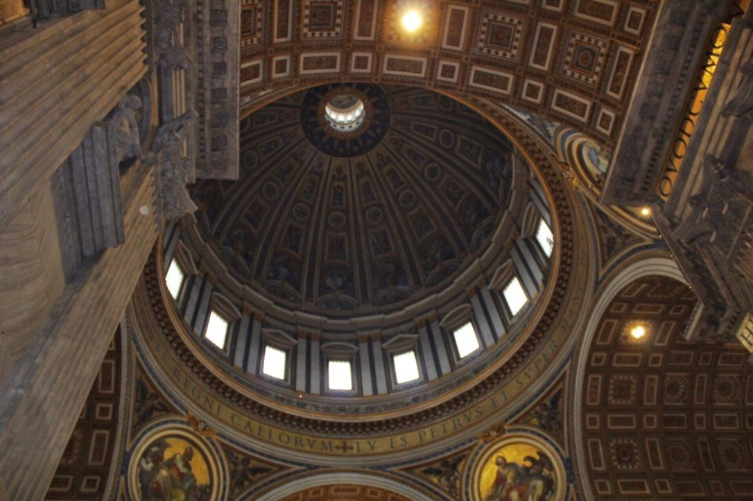 St. Peter's Basilica dome Rome Italy