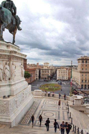 View from Altare della Patria in Rome Italy