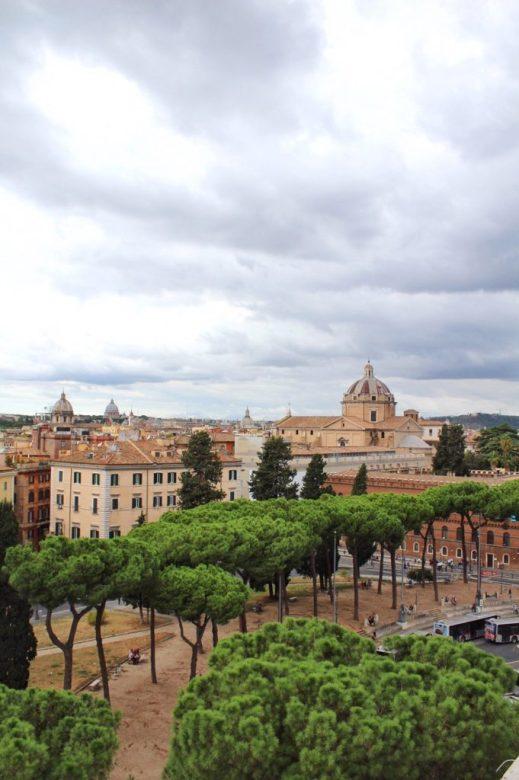 View from the Altare della Patria in Rome Italy