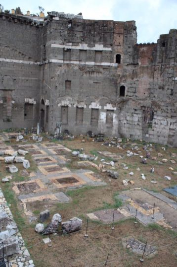Ruins of the Roman Forum in Rome Italy