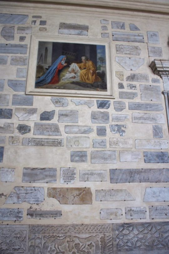 Santa Maria church in Trastevere neighborhood in Rome Italy