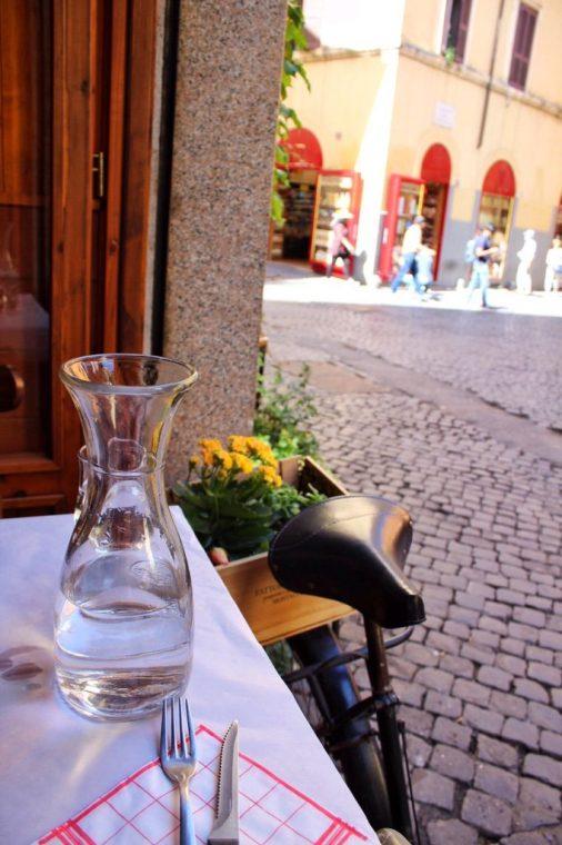 Lunch in Trastevere in Rome Italy