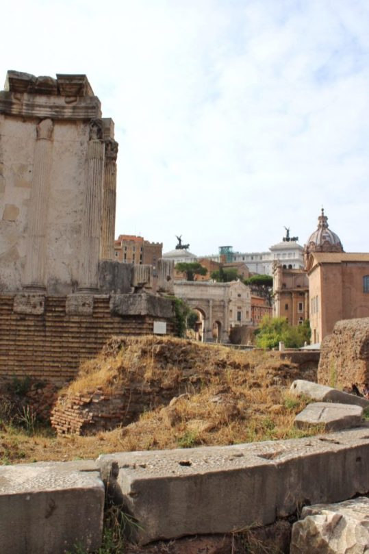 Exploring the Roman Forum in Rome, Italy