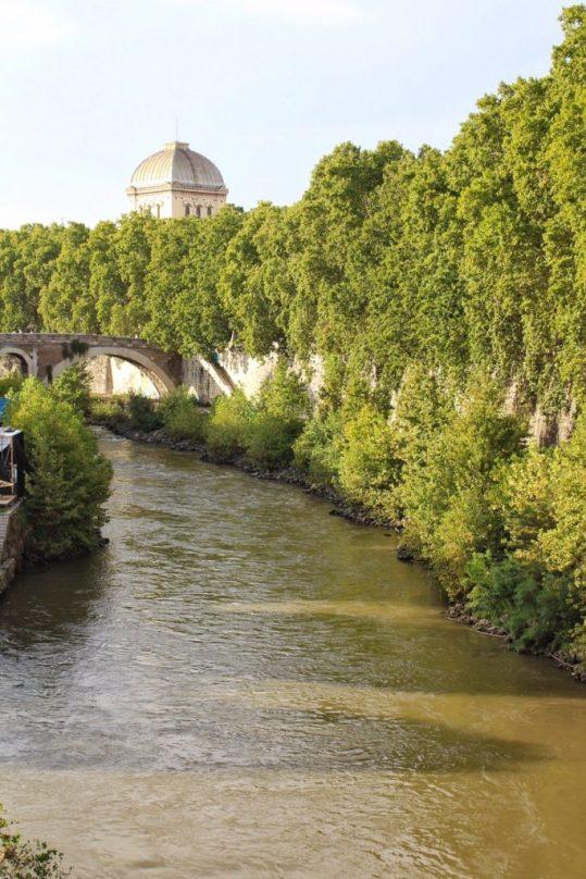 Tiber River in Rome Italy
