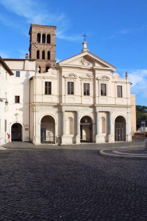 Basilica of St. Bartholomew on the Island in Rome Italy