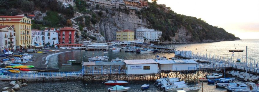 View from Porta Marina in Sorrento, Italy