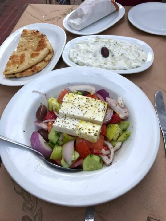 Greek food at Ambrosia Athens Greece