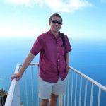 Eric standing on top of Mount Solaro in Capri, Italy