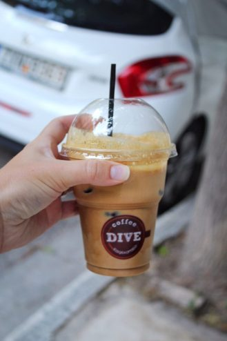 Frappe from Coffee Dive Acropolis Athens Greece