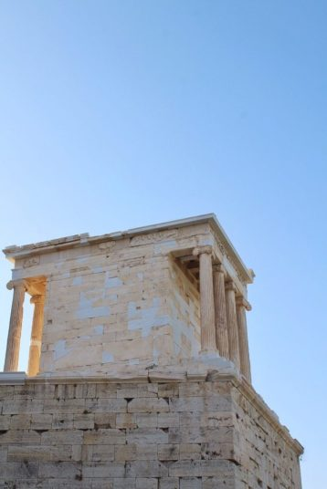 Temple of Athena Nike at the Acropolis in Athens Greece
