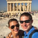 Lauryn and Eric in front of the Parthenon in Athens Greece