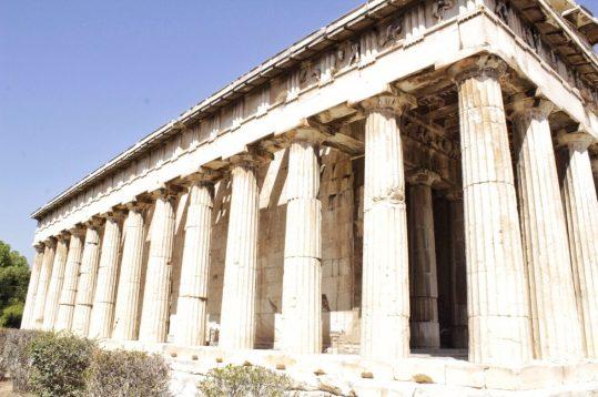 Pagoda at Ancient Agora Athens Greece