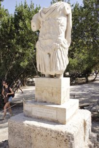 Statue at Ancient Agora Athens Greece