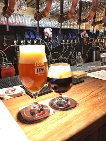 Beer at Delirium bar in Brussels, Belgium