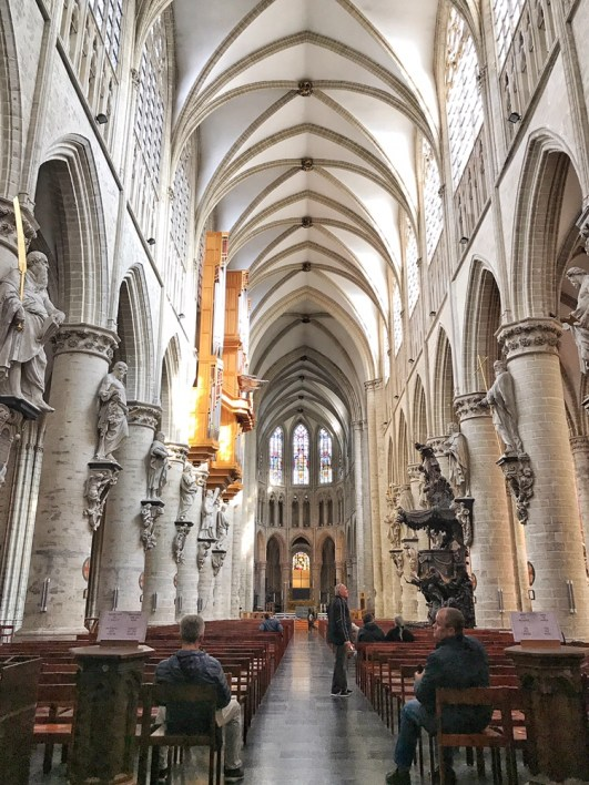 Inside St. Michael and Gudula Cathedral