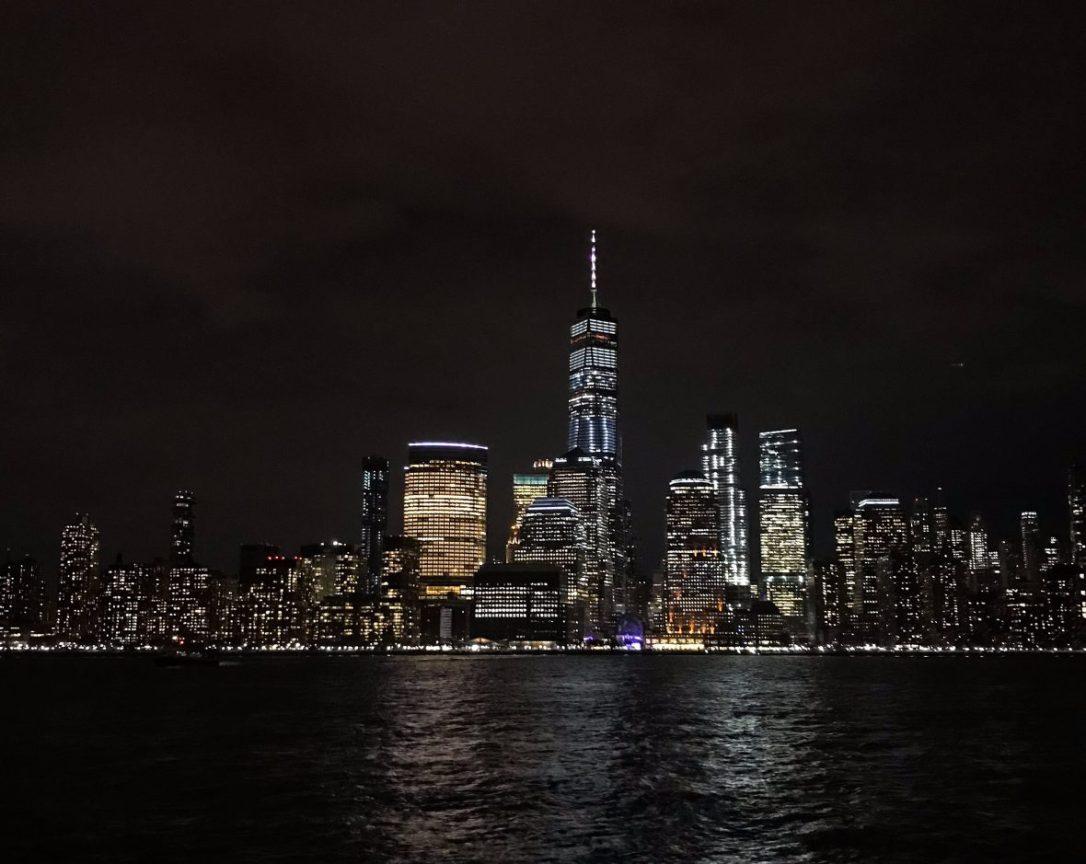 View of the New York City skyline from the Hyatt on the Hudson