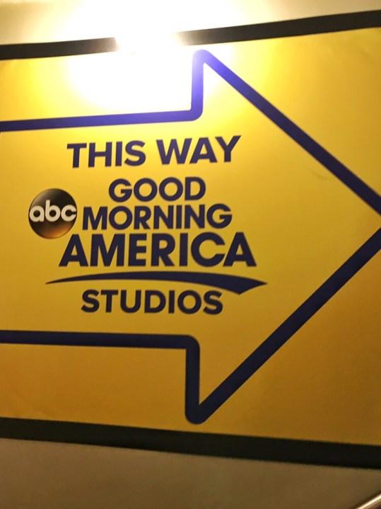 Walking inside the studio of Good Morning America - New York