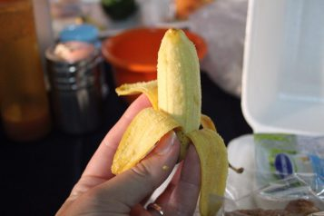 The tiniest banana you ever did see!