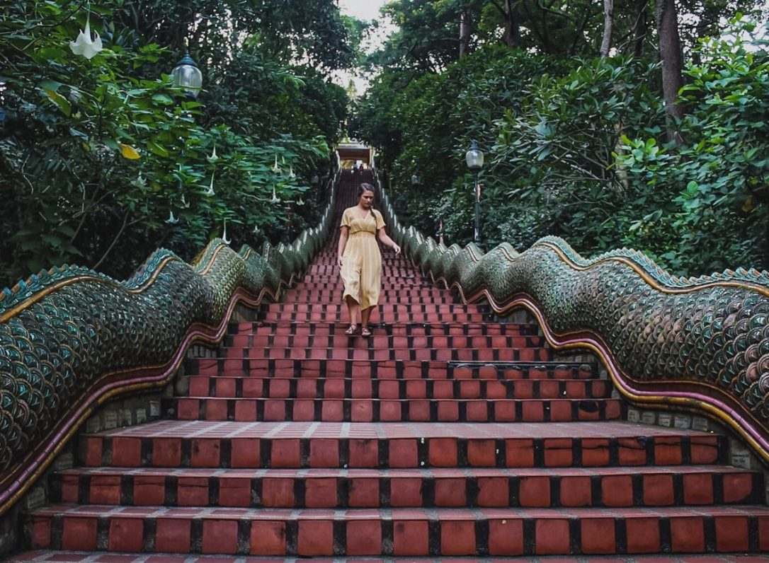 Walking the Naga Staircase in Chiang Mai