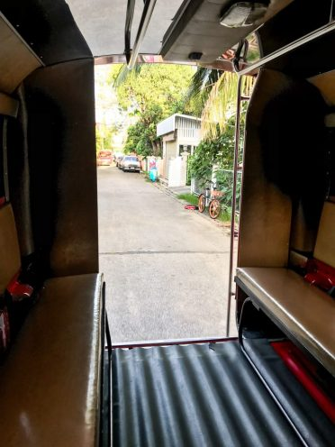 View out of the back of the songthaew on our way to Wat Phra That Doi Suthep Chiang Mai