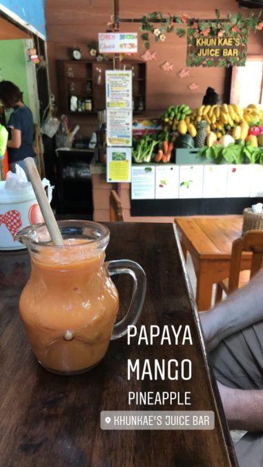 Juice at Khun Kae's Juice Bar Chiang Mai Old City Thailand